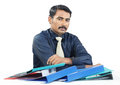 Indian Businessman with Files Royalty Free Stock Photo