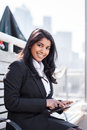 Indian businesswoman with tahlet PC Stock Photos
