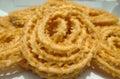 Indian chakli murukku snacks murukku snacks snacks snack prepared with rice and lentil flour Stock Image
