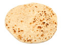 Indian chapati bread isolated on white background Royalty Free Stock Photo