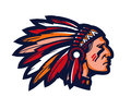 Indian chief. Logo or icon. Vector mascot