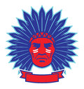 Indian chief mascot vector of head easy to edit Stock Photography
