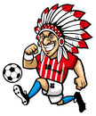 Indian chief soccer mascot Royalty Free Stock Photo