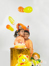 Indian children birthday Stock Photo