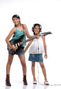 Indian Children music band Stock Photo