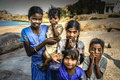 Indian children posing for a photo in hampi india Stock Photography