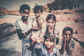 Indian children posing for a photo in hampi india Royalty Free Stock Photo