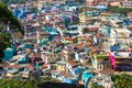 Indian city Ooty, Coonor, Nilgiris ,Tamil Nadu. Colored roof Royalty Free Stock Photo