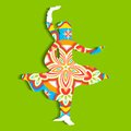 Indian classical dancer illustration of performing kathak Stock Photography