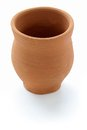 Indian clay cup on white background Royalty Free Stock Image