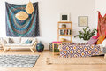 Indian cloth in apartment Royalty Free Stock Photo