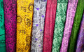Indian cloth in market Royalty Free Stock Photo