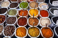 Indian colored spices at anjuna flea market in goa india Royalty Free Stock Photos