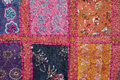 Indian colorfull fabric in squares Royalty Free Stock Photo
