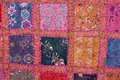 Indian colorfull fabric in squares Royalty Free Stock Image