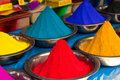 Indian coloured powders Royalty Free Stock Images