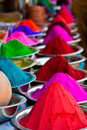 Indian coloured powders Royalty Free Stock Photography