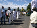 Indian community on a sunday on reunion island Stock Photos