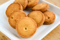 Indian cookies made flour cumin salt also known as osmania cookies hyderabad Royalty Free Stock Photos