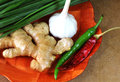 Indian cooking ingredient basic on the plate Stock Images