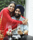 Indian Couple Dining Together Concept Royalty Free Stock Photo