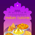 Indian cuisine dishes poster