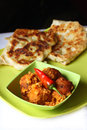 Indian cuisine, vegetarian paratha,kofta Stock Photography
