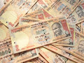 Indian currency background of thousand rupee notes Stock Image