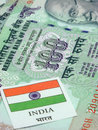 Indian Currency & Flag Royalty Free Stock Image