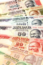 Indian currency notes close up view of Stock Photography