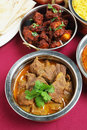 Indian curries high angle view Royalty Free Stock Photos