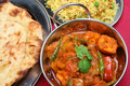 Indian Curry Dinner Meal Royalty Free Stock Photos