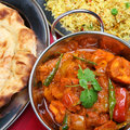 Indian Curry Dinner Meal Stock Images