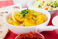 Indian curry with ginger and potato classic Stock Photo