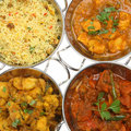 Indian Curry Selection Stock Photo