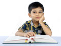 Indian Cute School Boy Stock Image