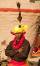 An indian dancer tribesman Royalty Free Stock Photo