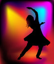 Indian dancer woman silhouette of dance performed by a Royalty Free Stock Photos