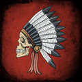 Indian dead man conceptual vector illustration for print Royalty Free Stock Image