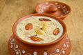 Indian desert kheer made of rice milk saffron and nuts Royalty Free Stock Photography