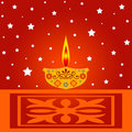 Indian diwali lamp Stock Photos