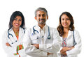 Indian doctors group of medical male and female standing isolated on white background Royalty Free Stock Photography