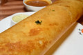 Indian dosa is special food made of rice and lentils in south india Royalty Free Stock Photos