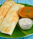 Indian dosa is special food made of rice and lentils in south india Stock Images