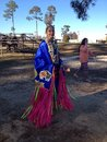 Indian dress thanksgiving at the reservation Stock Image