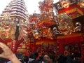 Indian Durga Puja Pandal at Kolkata Royalty Free Stock Photo