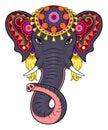 Indian elephant face Royalty Free Stock Photo
