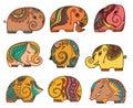 Indian elephants set