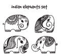 Indian elephants set