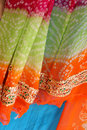 Indian fabrics Royalty Free Stock Photography